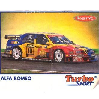 Вкладыш от жвачки Turbo sport №30 Alfa Romeo