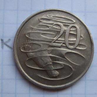 АВСТРАЛИЯ 20 центов 1974 г. (УТКОНОС).