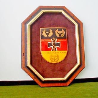 №250 Инсталляция Эмблема Красного креста Бундесвер деревянной рамке ручная работа бронза эмаль редки