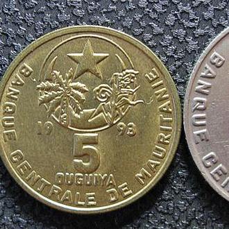 Монеты Мавритании 3 шт.