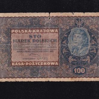 100 марок 1919г. Польша.