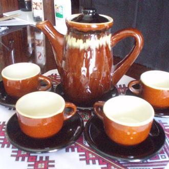 Керамічний кавовий сервіз (керамический кофейный сервиз)