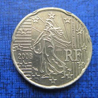 монета 20 евроцентов Франция 2008