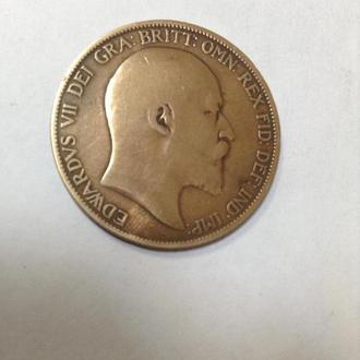 ВЕЛИКОБРИТАНИЯ,  1 пенни 1906
