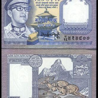 НЕПАЛ 1 рупия 1974г. UNC