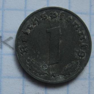 "ГЕРМАНИЯ 1 рейхспфенниг 1942 г. ""A""."