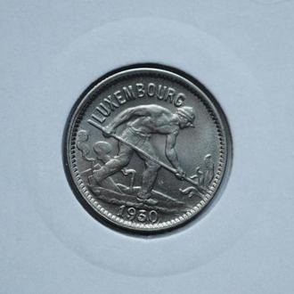Люксембург 50 сантим 1930г., UNC, РЕДКОЕ СОСТОЯНИЕ