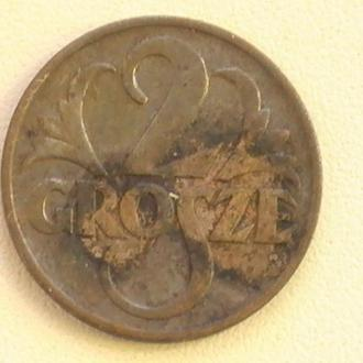 2 Гроша 1939 г Польща 2 Гроша 1939 р Польша