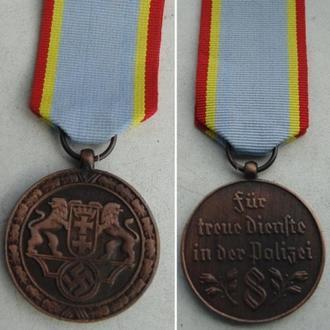 Медаль  За верную службу в полиции вольного города Даньциг