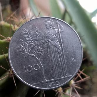 100 лир 1973 года.