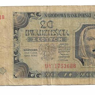 Польша 20 злотых 1948