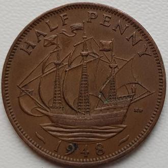 Великобританія 1/2 пенні 1948