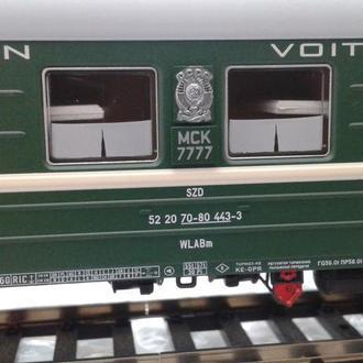 Пассажирский спальный вагон 7777 ACME CCCР(подходит к Piko,Roco)
