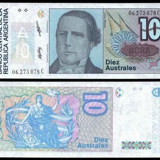 Argentina Аргентина - 10 Pesos 1987 - P-325b - UNC