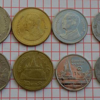 Таиланд набор монет из оборота - всего 4 шт