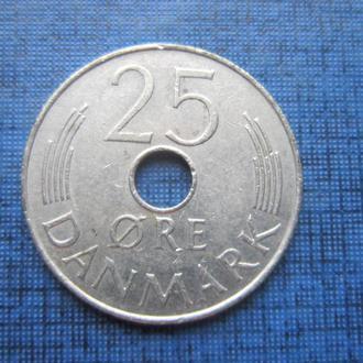 Монета 25 эре Дания 1976