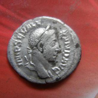 Денарий АБУНДАНЦИЯ Рим, император Александр Север, раритет