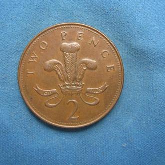 Великобритания 2 пенса 1999 год
