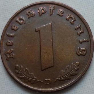 Германия 1 пфенниг 1937 D