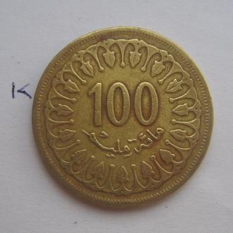 ТУНИС, 100 миллим 1983 года.