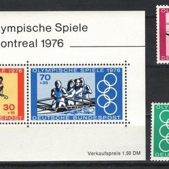 Германия - олимпиада 1976 - Michel Nr. 886-87, Bl. 12 **