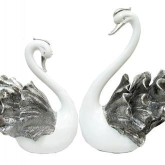 Фигурка: лебеди с серебром, пара