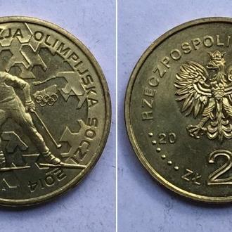 Польша 2 злотых, 2014г. Польская олимпийская сборная - Сочи 2014 / Юбилейные монеты