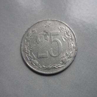 Чехословакия 25 геллеров 1953