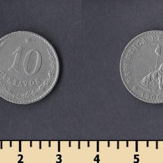 Парагвай 10 сентаво 1900