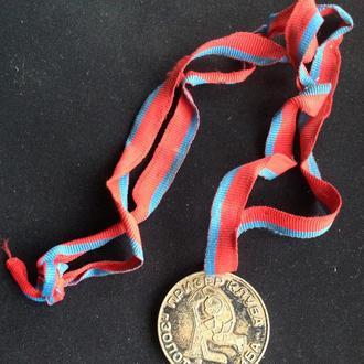 Юный хоккеист ЧЕМПИОН Киевская область Призер клуба ЗОЛОТАЯ ШАЙБА медаль спорт
