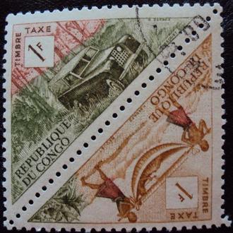 Конго ДР 1961г - 2сцепки
