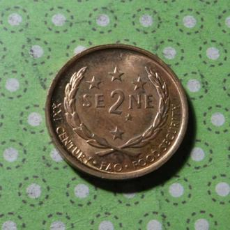 Самоа 2000 год монета 2 сене !