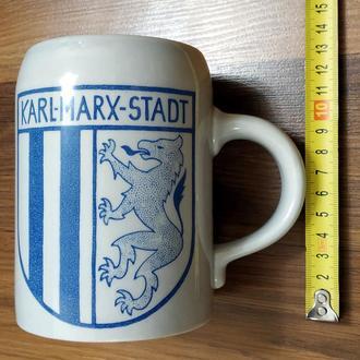 Фарфор. Кружка пивная Karl-Marx-Stadt (ГДР).