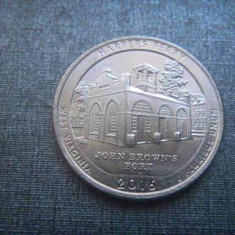США 25 центов Харперс Ферри P 2016 (RL207)