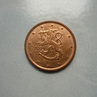 Финляндия 5 евроцентов 2001