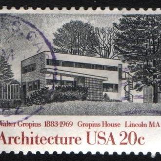 США (1982) Архитектура. Дом архитектора Гропиуса