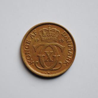 Дания ½ кроны 1925 г. HCN, 'Король Кристиан X (1912-1947)'