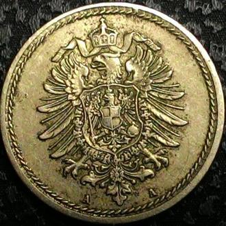 Германия 5 пфеннигов 1875 А год ОТЛИЧНОЕ СОСТОЯНИЕ!!!