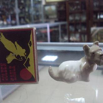 фигура фарфор ЛФЗ собака собачка терьер №67