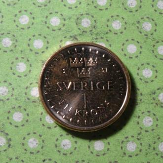 Швеция 2016 год монета 1 крона