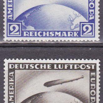Рейх дирижабли Zeppelin полная серия MH+MNH