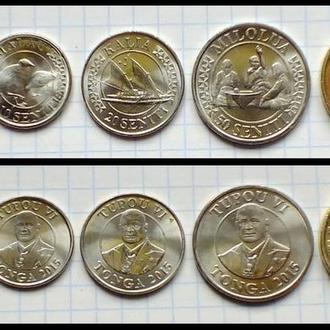 ТОНГА  - набор монет 5 шт  2015г. UNC