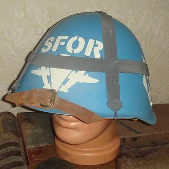 "Каска ""миротворца"" ООН в Боснии"