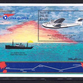 Авиация .  Палау 1985 г  MNH - блок