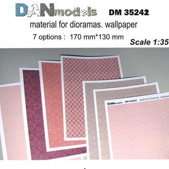 Danmodel 35242 - материал для диорам - обои ( бумага ) семь видов обоев. часть 2