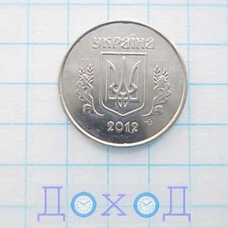 Монета Украина Україна 1 копейка копійка 2012 гладкий гурт магнит №4
