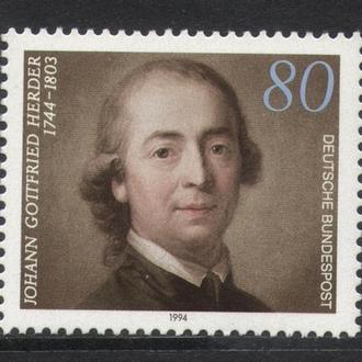 Германия ФРГ - философ, личность 1994 - Michel Nr. 1747 **