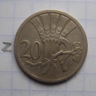 ЧЕХОСЛОВАКИЯ. 20 геллеров 1928 года.