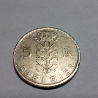 Бельгия 5 франков 1950 г.