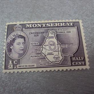 марка Монсеррат брит.колонии 1953 королева елизавета №251